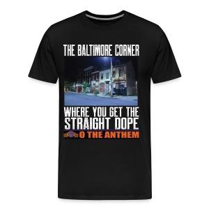 Baltimore Corner black t-shirt - Men's Premium T-Shirt