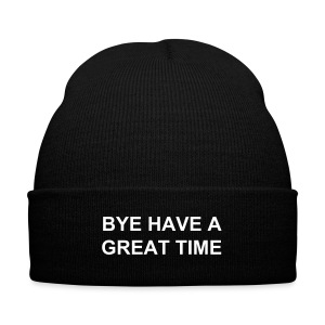 bye have a great time - Knit Cap with Cuff Print
