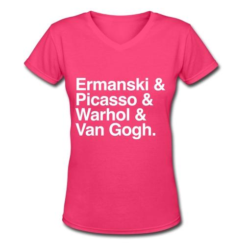 Artists - V-Neck - Women - Women's V-Neck T-Shirt