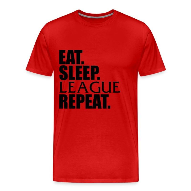 Eat. Sleep. League Repeat. - Men's Premium T-Shirt