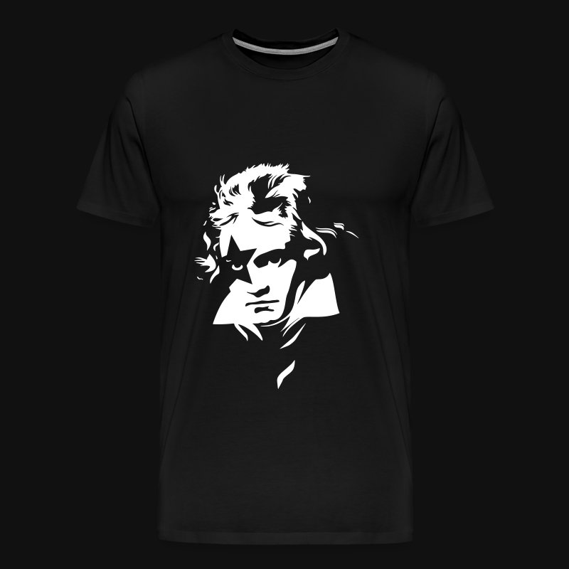 Beethoven Kiss Black Metal - Men's Premium T-Shirt