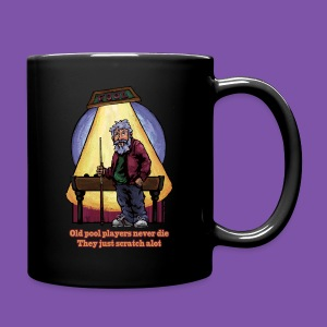 Old Pool Players Never Die They Just Scratch Alot Mug - Full Color Mug