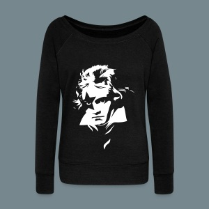 Beethoven Kiss Black Metal - Women's Wideneck Sweatshirt