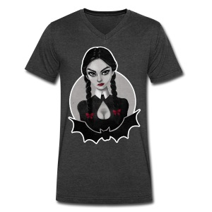 Wednesday Addams Tribute - Men's V-Neck T-Shirt by Canvas