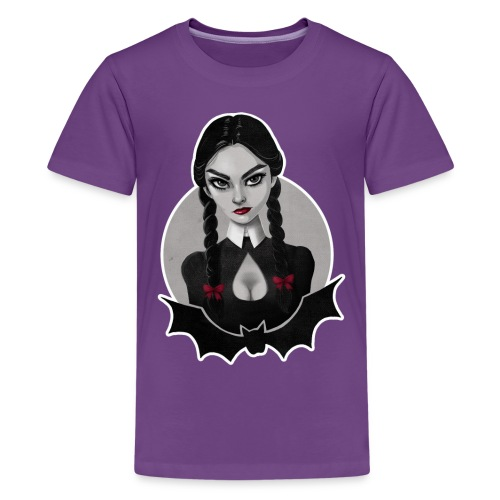 Wednesday Addams Tribute - Kids' Premium T-Shirt