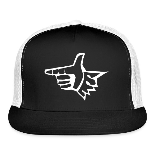 EL Black Trucker White Logo - Trucker Cap
