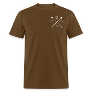 Cross Tee - Brown - Men's T-Shirt