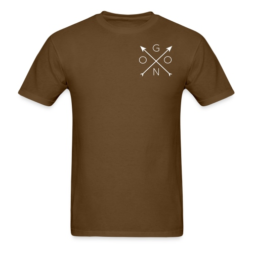 Cross Tee - Brown - Men's T-Shirt