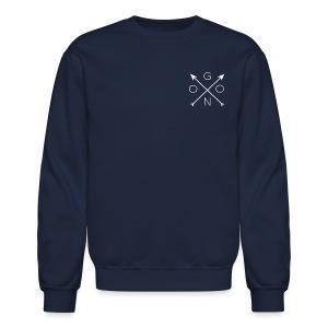 Cross Crewneck - Navy - Crewneck Sweatshirt