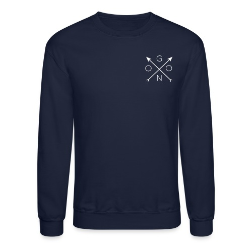 Cross Crewneck - Navy - Crewneck Sweatshirt
