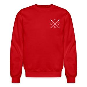 Cross Crewneck - Red - Crewneck Sweatshirt