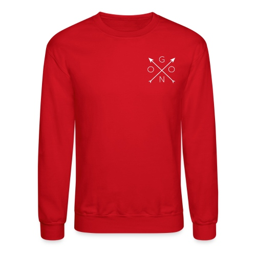 Cross Crewneck - Red - Crewneck Sweatshirt