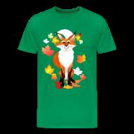 T-Shirts ~ Men's Premium T-Shirt ~ Happy Fox in Fall