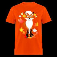 T-Shirts ~ Men's T-Shirt ~ Happy Fox in Fall