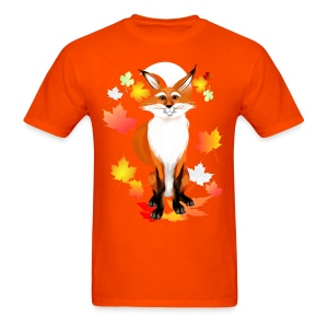 Happy Fox in Fall - Men's T-Shirt