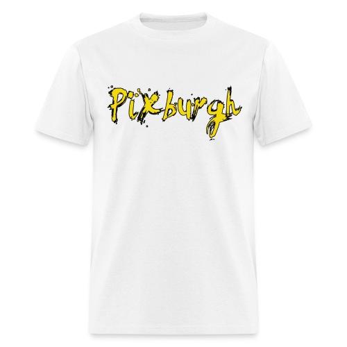 Pixburgh Brush Font Tee - Men's T-Shirt
