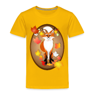 Baby & Toddler Shirts ~ Toddler Premium T-Shirt ~ Happy Fox in Fall oval