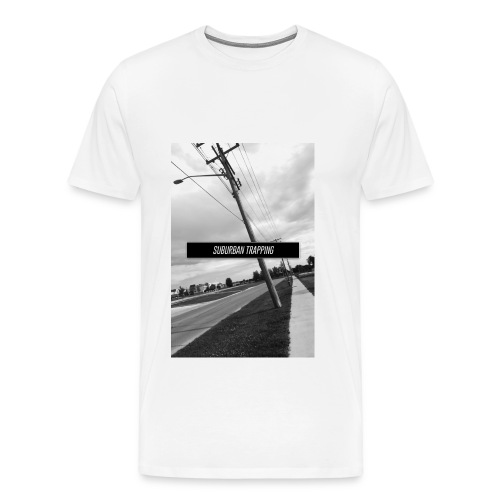 Suburban Trapping The Peg Black and White Tee - Men's Premium T-Shirt