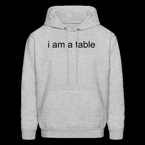 Table Hoodie (Black Text) - Men's Hoodie