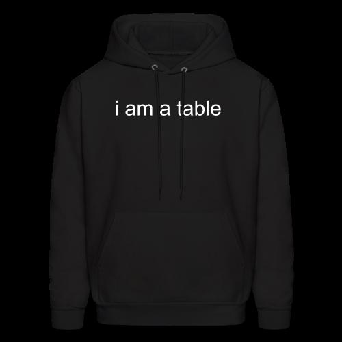 Table Hoodie (White Text) - Men's Hoodie