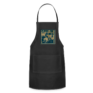 Aprons ~ Adjustable Apron ~ Playin' the blues