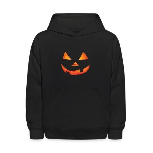 Kids Hoodie Halloween pumpkin face logo - Kids' Hoodie