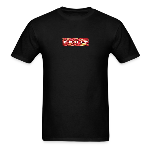 FRUIT Apple Box Logo (Black) - Men's T-Shirt