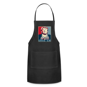 Trump Grab Em Cat Poster Aprons - Adjustable Apron