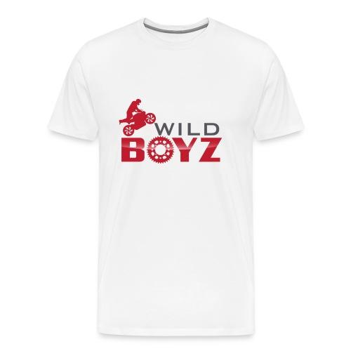 Men's WildBoyz White T - Men's Premium T-Shirt