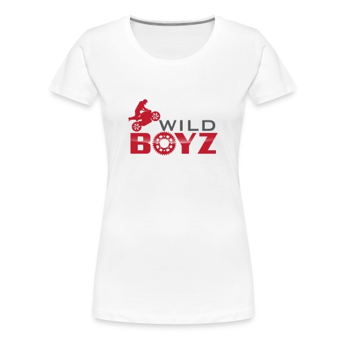 Women's WildBoyz White T - Women's Premium T-Shirt