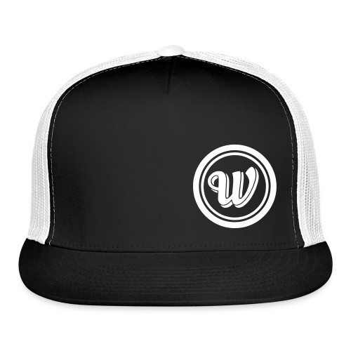 Snapback - White logo - Trucker Cap