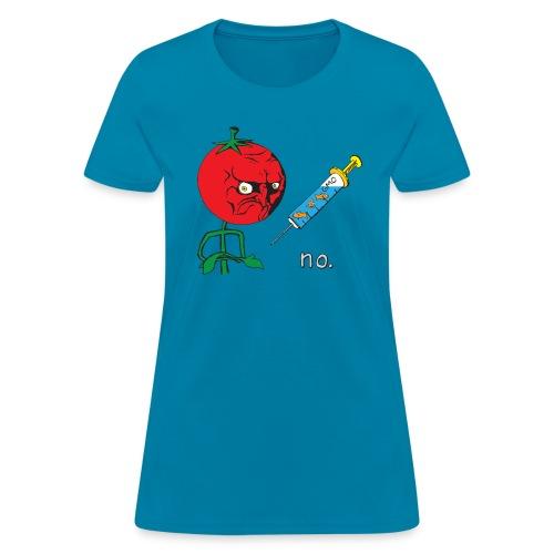 no. Anti-GMO Tomato Meme - Women's T-Shirt