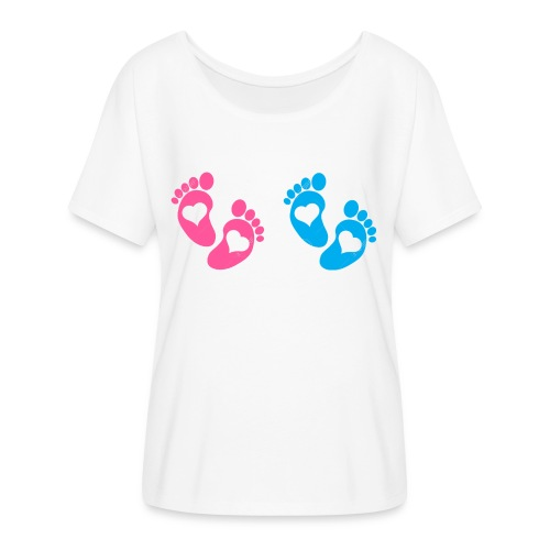 baby footsteps T-Shirts - Women's Flowy T-Shirt