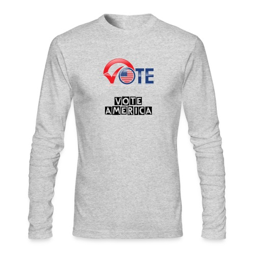 Vote America Hoodie for Men & Women - Men's Long Sleeve T-Shirt by Next Level