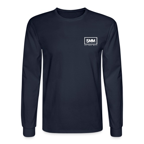 Self Made Music Men's Long Sleeve Shirt with White Logo - Men's Long Sleeve T-Shirt