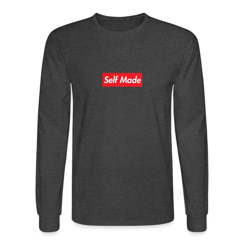 Red Supreme Style Self Made Music Men's Long Sleeve Shirt T-Shirt ...