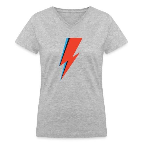 LIGHTNING BOLT WMNS V-NECK T - Women's V-Neck T-Shirt