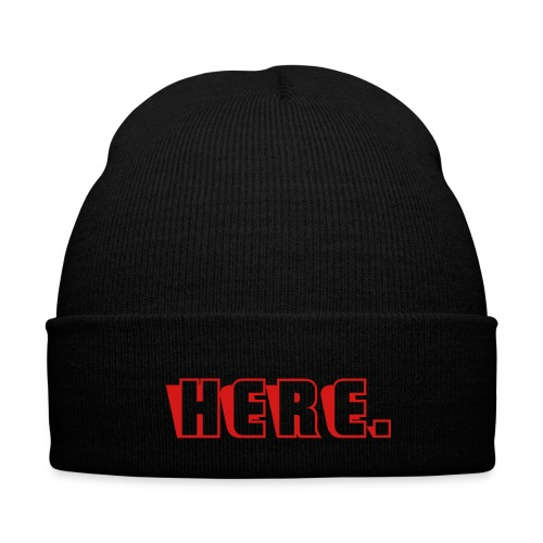 HERE beanie - Knit Cap with Cuff Print