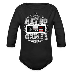Retro Gamer - Long Sleeve Baby Bodysuit