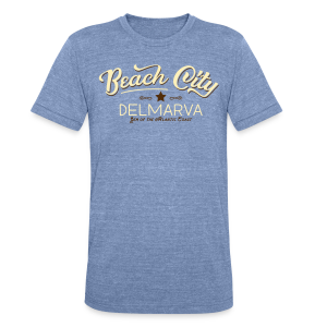 Beach City Vintage Men's - Unisex Tri-Blend T-Shirt by American Apparel