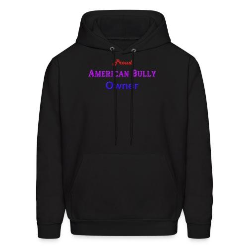 Proud American Bully Owner Men's Hoodie  - Men's Hoodie