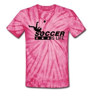 Unisex Soccer Is Life T-Shirt - Unisex Tie Dye T-Shirt