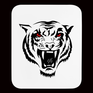 Tiger Red Eyes - Mouse pad Vertical