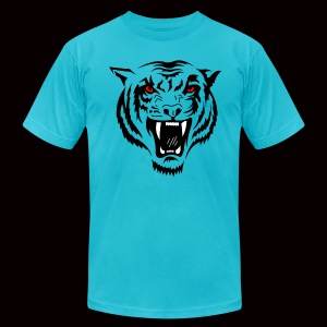 Tiger Red Eyes - Men's T-Shirt by American Apparel