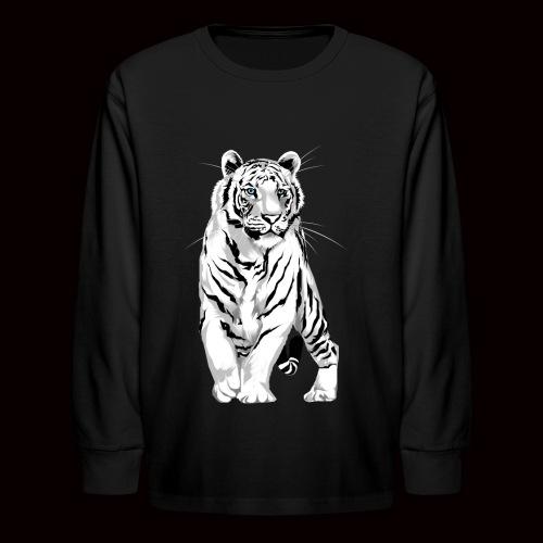 White Tiger - Kids' Long Sleeve T-Shirt