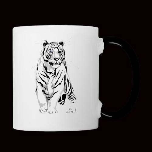 White Tiger - Contrast Coffee Mug