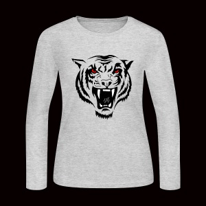 Tiger Red Eyes - Women's Long Sleeve Jersey T-Shirt