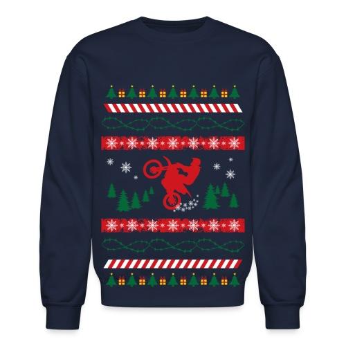 Motocross Christmas Sweater - Crewneck Sweatshirt