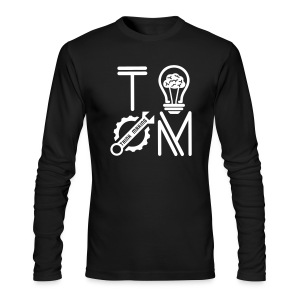 White Logo Long Sleeve T-shirt - Men's Long Sleeve T-Shirt by Next Level