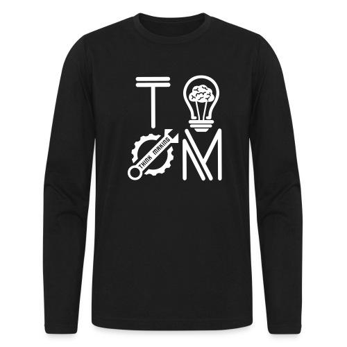 White Logo Long Sleeve T-shirt - Men's Long Sleeve T-Shirt by Next Level